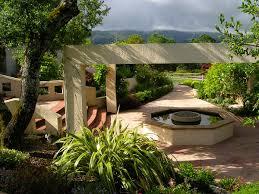 courtyard surrounding landscape design sonoma valley landscape