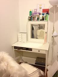 Desk Appearance Furniture Ikea Vanity Ideas Pimping Up Your Appearance Charming