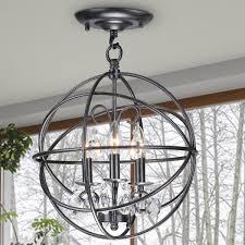Chandelier Hardware Creative Of Crystal And Metal Orb Chandelier Round Metal Sphere