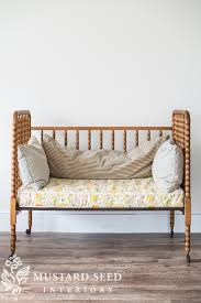 antique crib turned daybed miss mustard seed
