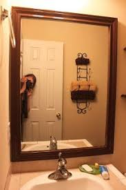 Bathroom Mirrors Framed by How To Frame A Mirror With Wood Molding Diy Pinterest Wood