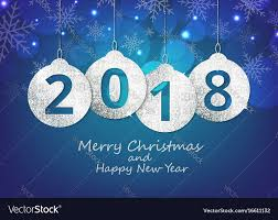 merry and happy new year hanging 2018 vector image