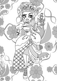 ever after high coloring pages kolorowanki franki monster high