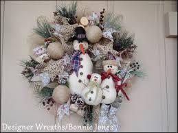 vintage snowman family trendy tree christmas wreaths by custom