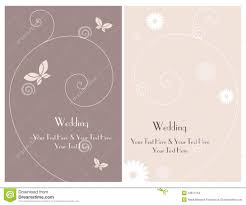 Invitation Cards For Wedding Set Wedding Invitation Cards Royalty Free Stock Images Image