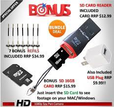 amazon com fabquality 1080p hd hidden camera pen bundle 16gb sd
