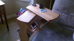Swivel Laptop Desk Simple Side Stand With Swivel Top By Mark55 Lumberjocks