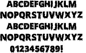 11 horror alphabet fonts scary images scary halloween letters