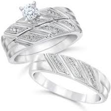 wedding ring sets diamond engagement and matching wedding ring