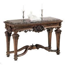 Ashley Furniture Side Tables Casa Mollino Traditional Dark Brown Wood Stone Sofa Console Table