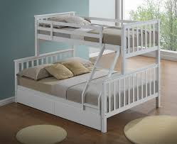 3 Bed Bunk Bed Modern 3 Sleeper White Childrens Bunk Bed Inc Drawers