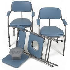 chaise perc e pliante chaise toilettes pliante omega h407 bleue invacare chaises