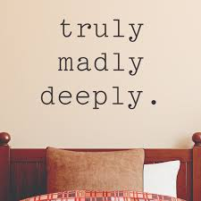 Powder Room Quotes Truly Madly Deeply Wall Quotes Decal Wallquotes Com