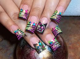 neon green acrylic nail designs neon nail art designs nail