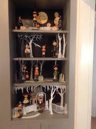 halloween vignette with lori mitchell figures halloween