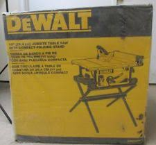 dewalt table saw folding stand dewalt 10 inch jobsite table saw rolling stand pro contractor