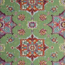 Houston Upholstery Fabric Upholstery Fabric Malatya F0798 Basil Ethnic Kilim Medallion