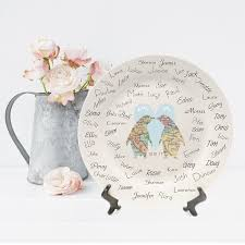 guest signing plate penguins in map personalised ceramic signature plate ideal