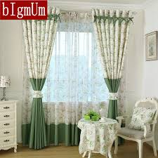 Window Curtain Decor Rustic Pastoral Window Curtain For Kitchen Blackout Curtains