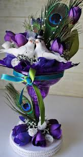 peacock centerpieces traditional peacock med purple wedding table centerpiece purple
