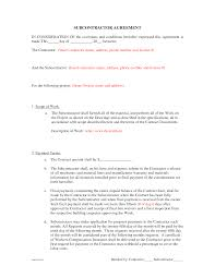 10 Contractor Non Compete Agreement Subcontractor Agreement Form Thebridgesummit Co