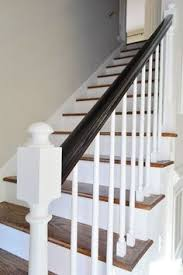 Painting A Banister White Great Tutorial On Re Doing Stairs U0026 Banisters For The Home