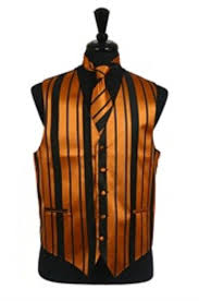 vest tie bowtie sets black gold combination