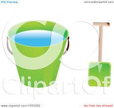 royalty free vector clip art illustration of a shovel and green