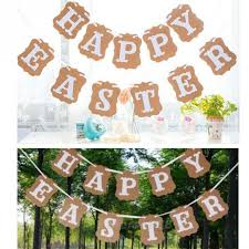 Easter Decorations Bunting by Easter Decoration Happy Easter Cardboard Flag Bunting Garland