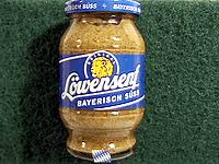 lowensenf mustard lowensenf sweet senf mustard bavaria sausage