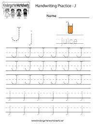 letter j worksheets kindergarten u0026 printable alphabet letter j