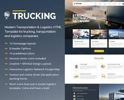 trucking transportation u0026 logistics html template by pixel industry