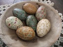 primitive easter eggs primitive easter egg bowl filler ornies rustic colonial farmhouse