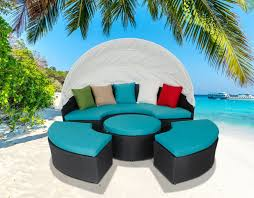 Outdoor Daybed With Canopy Outdoor Attractive Circular Outdoor Wicker Patio Daybed With