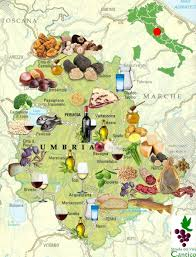 Italy On Map Mappa Prodotti Tipici Umbri Geografia Pinterest Food