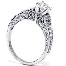 5 8ct vintage filigree diamond engagement ring 14k white gold