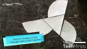 The Interior Angles Of A Triangle Always Add Up To Sum Of The Exterior Angles Of A Triangle Proof Paper Cutting