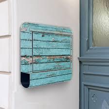 design edelstahl briefkasten design edelstahl briefkasten blauen holzlatten почтовый ящик