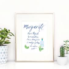 margarita cocktail illustrated margarita cocktail recipe print by lucy bowes design