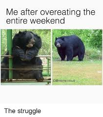 Overeating Meme - me after overeating the entire weekend g meme cloud the struggle