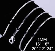 chain necklace sizes images 2018 925 silver beautiful necklaces 1mm box chain necklace jpg