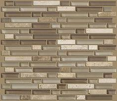 SF Rustic Copper Linear Natural Slate Blend Mosaic Tile Kitchen - Linear tile backsplash