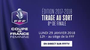 siege de la fff lundi coupe de féminine tirage au sort des 8es de finale