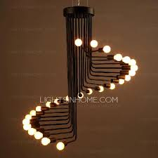 Black Chandelier Ls Creative 26 Light Wrought Iron Black Whimsical Chandeliers