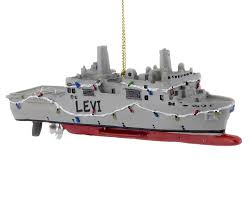 navy ship personalized ornament