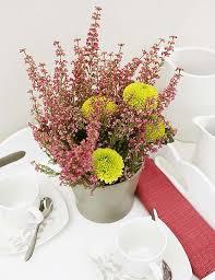 flower arrangements colorful table centerpiece ideas