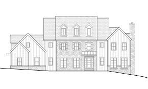 cunningham architecture elevation studies for custom mount airy home