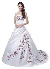 brautkleider rot weiãÿ shoppen sie faironly trägerlos weiß rot hochzeitskleid brautkleid