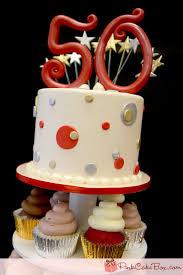 50th birthday cupcake tower pink cake box