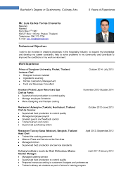 culinary resume exles resume luis torres culinary